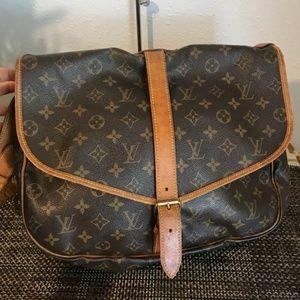 100% Authentic Louis Vuitton Saumur Monogram 35